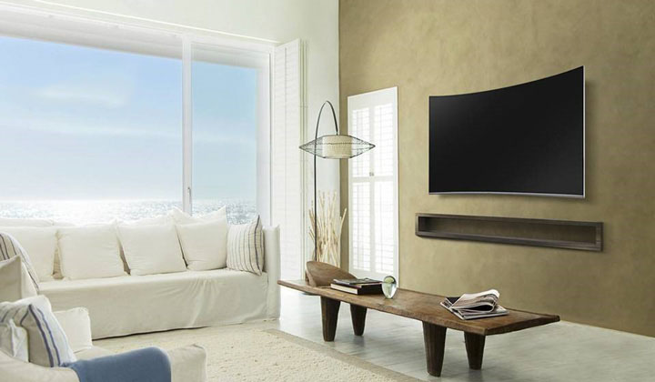 قابلیت اتصال به دیوار در تلویزیون ال ای دی  55 اینچ هوشمند و 4K سامسونگ